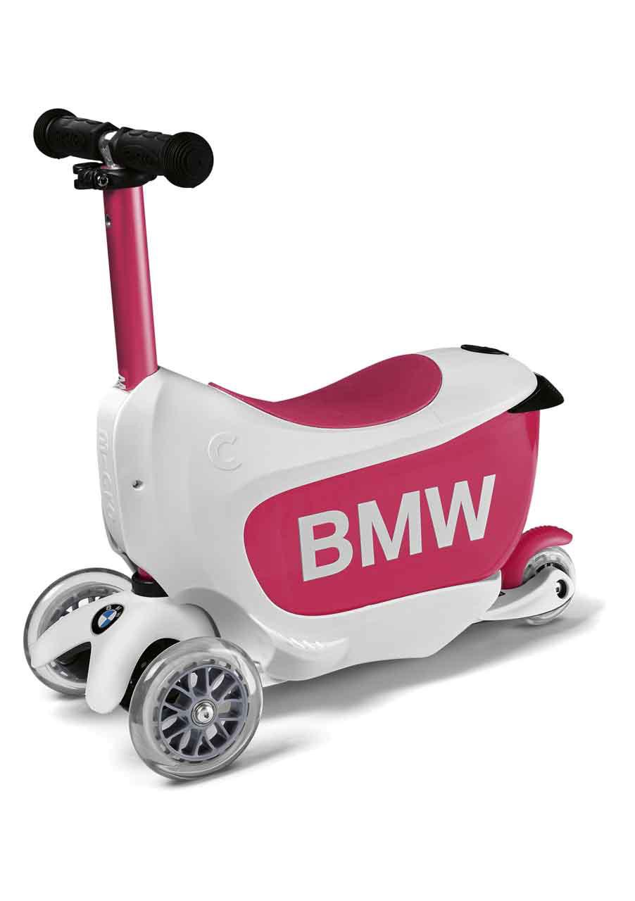 BMW Kids Scooter Weiß Himbeerrot
