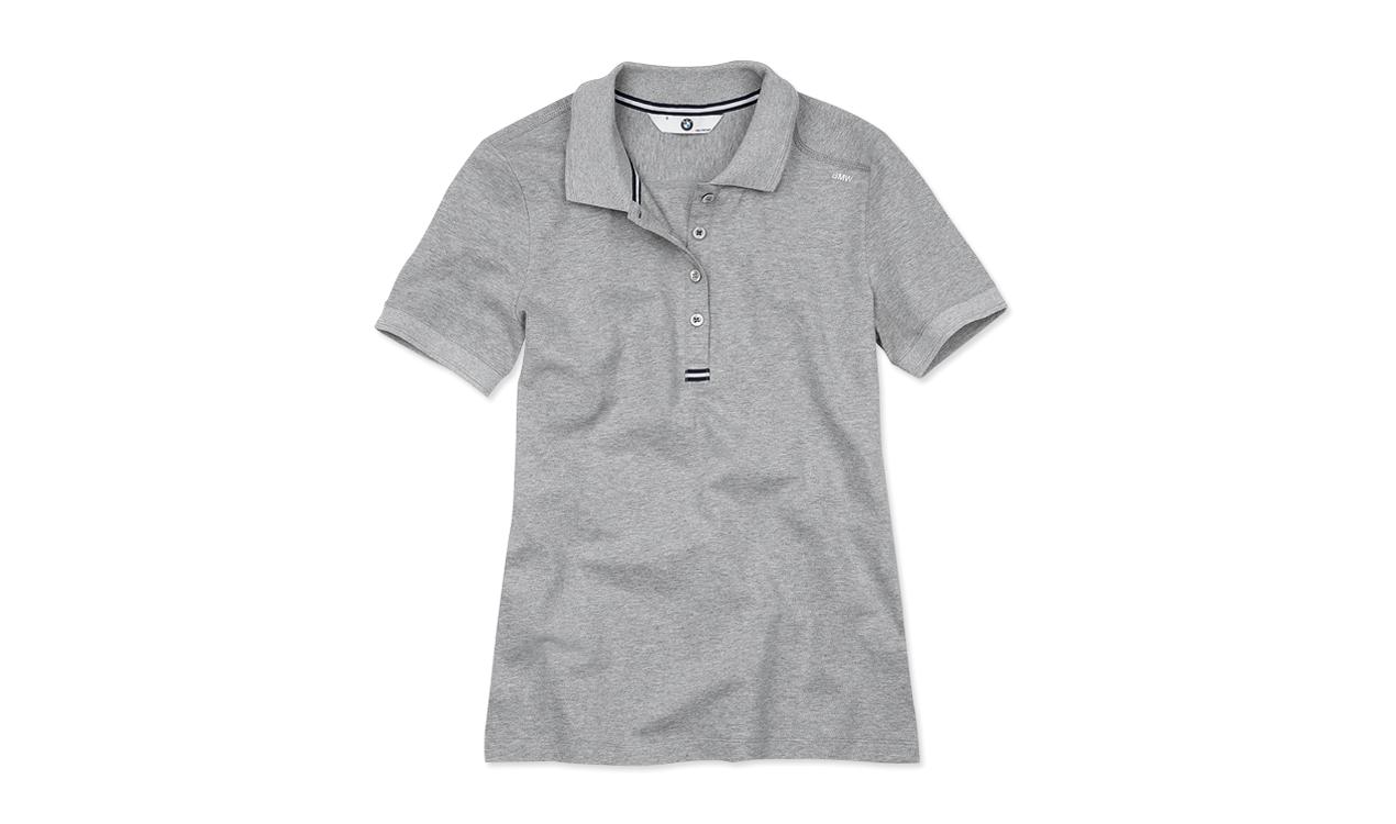 BMW Poloshirt Damen grau
