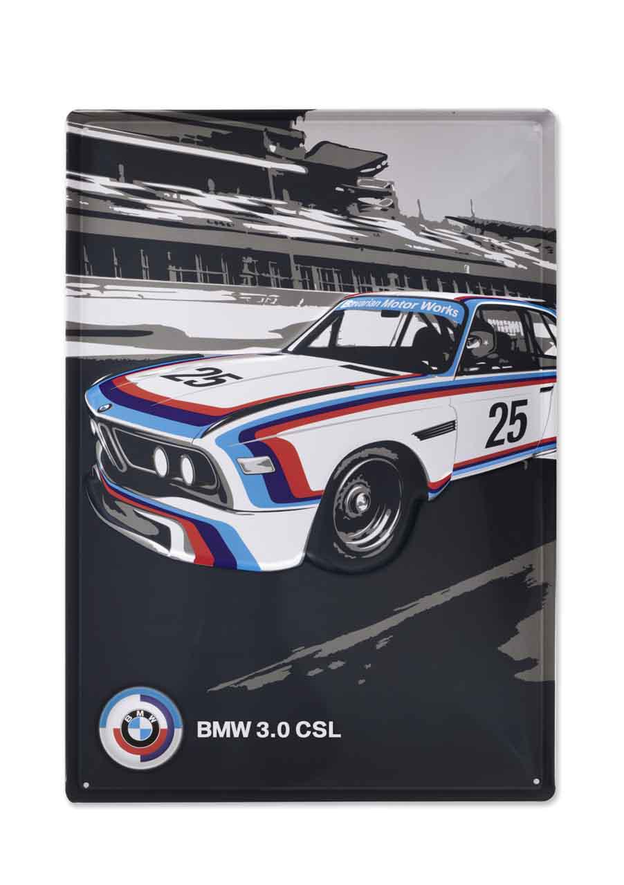 BMW Motorsport Blechschild Heritage